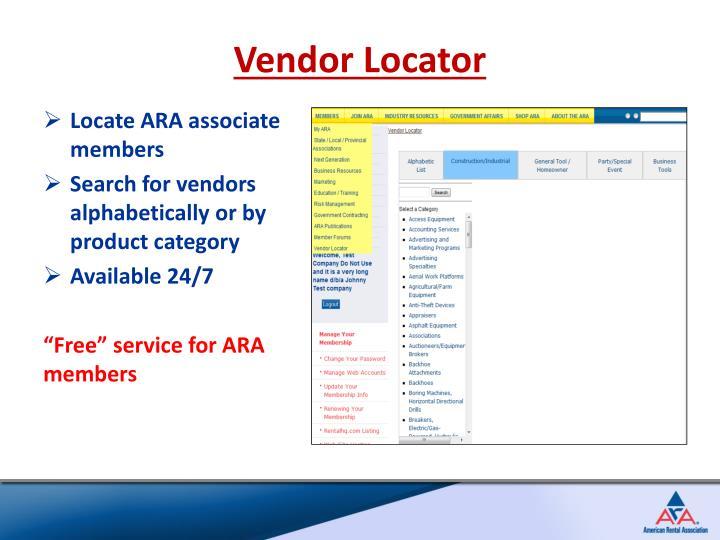 Vendor Locator