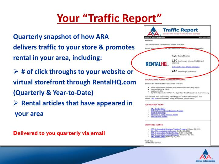 "Your ""Traffic Report"""