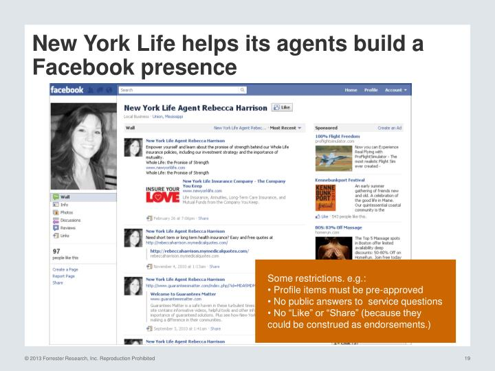 New York Life helps its agents build a Facebook presence