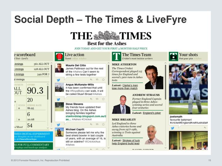Social Depth – The Times &