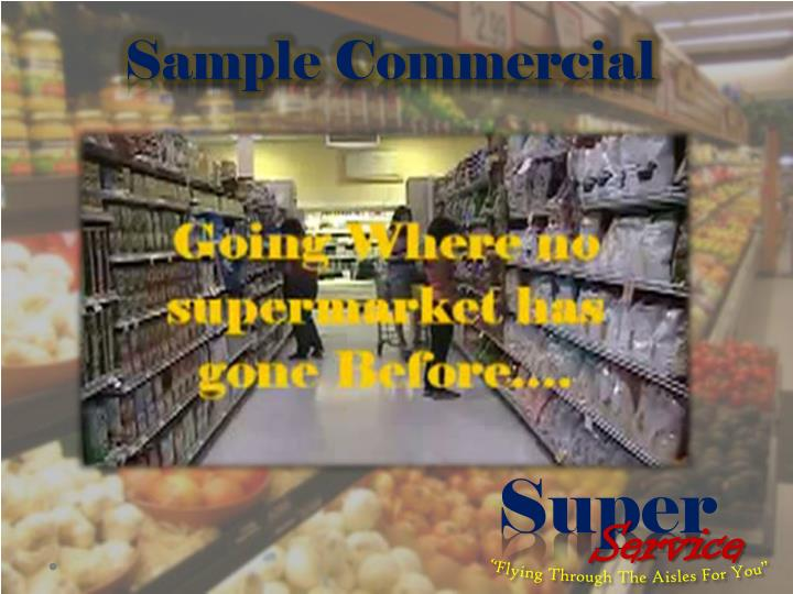 Sample Commercial