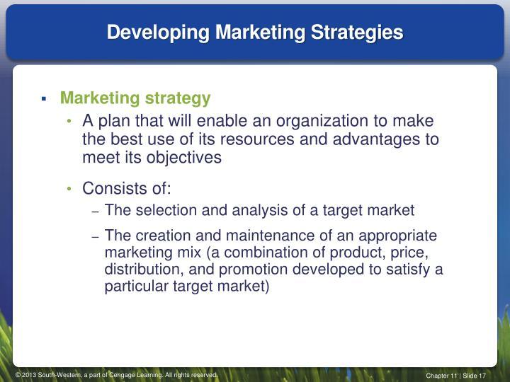 Developing Marketing Strategies