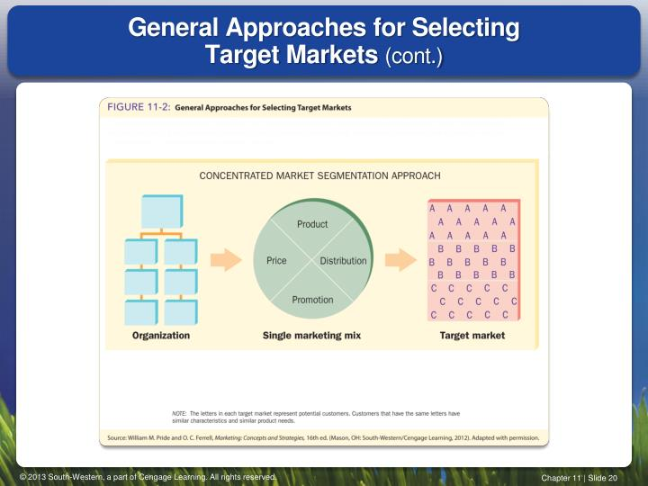 General Approaches for Selecting