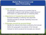 market measurement and sales forecasting