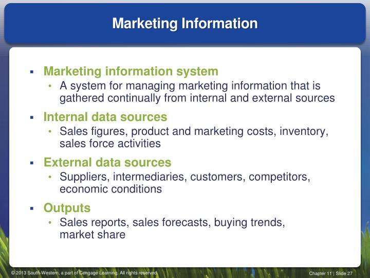 Marketing Information