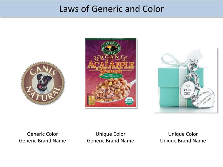 Laws of Generic and Color