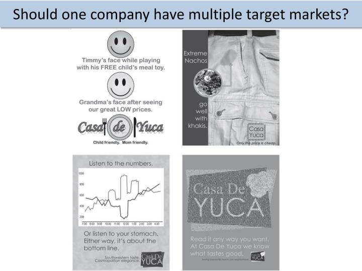 Should one company have multiple target markets?