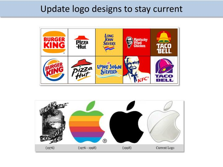 Update logo designs to stay current