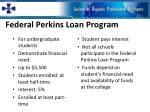 federal perkins loan program