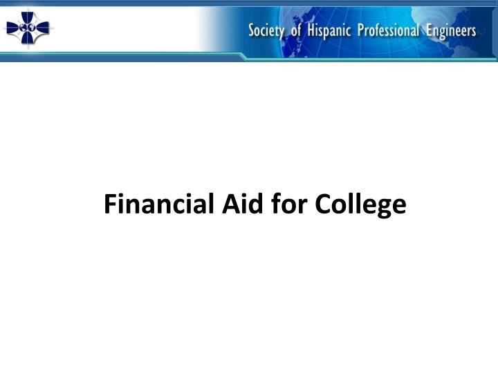 Financial aid for college