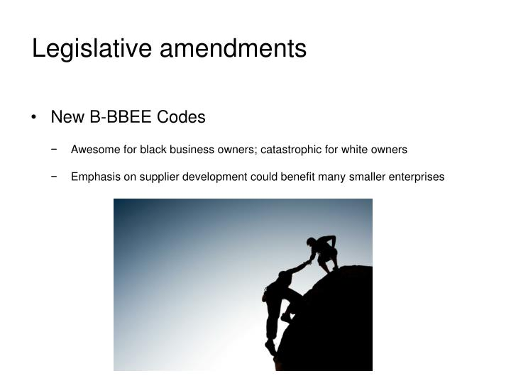 Legislative amendments