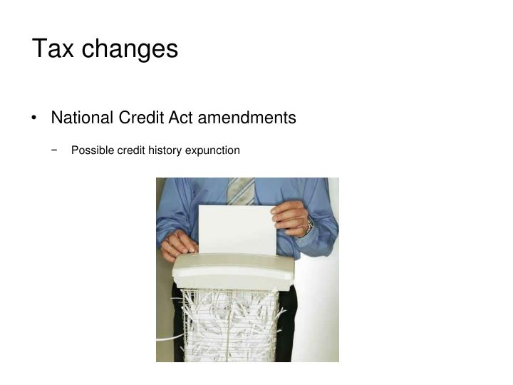 Tax changes