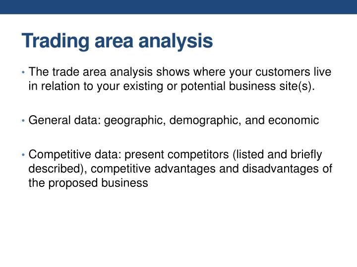Trading area analysis