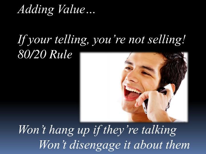 Adding Value…