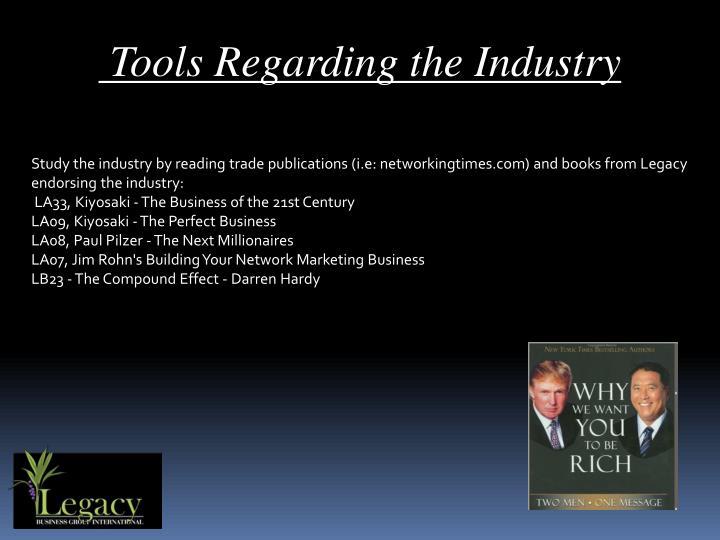 Tools Regarding the Industry