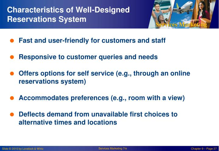 Characteristics of Well-Designed Reservations System