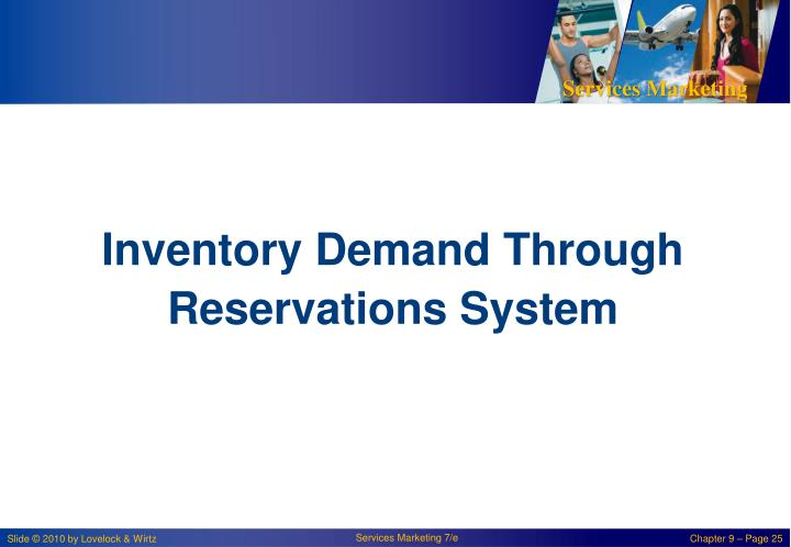 Inventory Demand Through Reservations System
