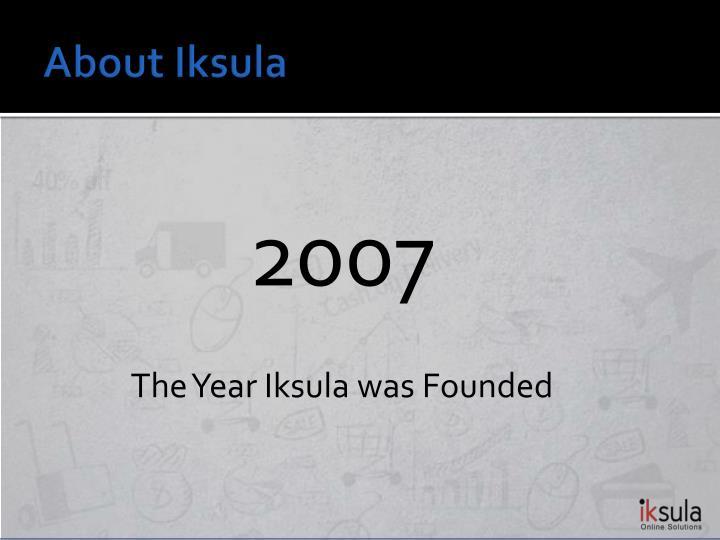 About Iksula