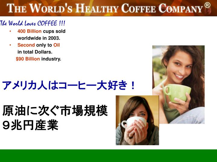 The World Loves COFFEE !!!