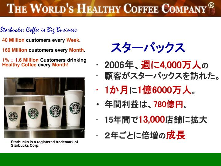 Starbucks: Coffee is Big Business