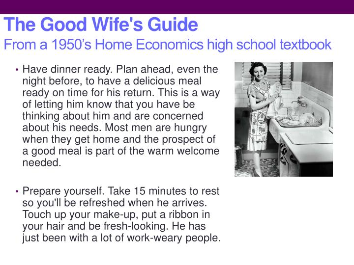 The Good Wife's Guide