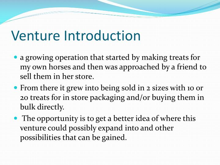 Venture introduction