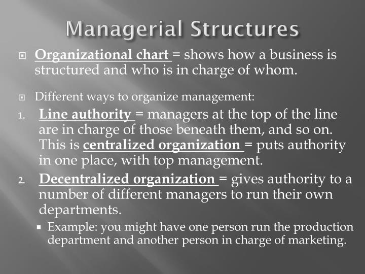 Managerial structures1