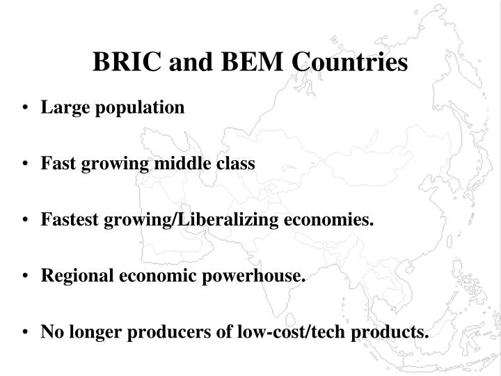 BRIC and BEM Countries
