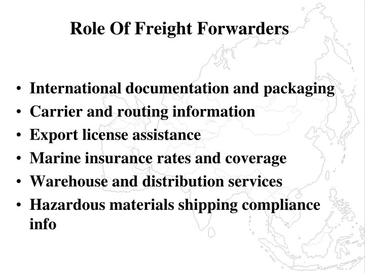 Role Of Freight Forwarders