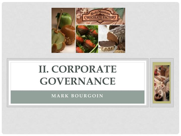 II. Corporate Governance