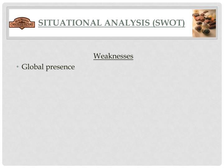 SITUATIONAL ANALYSIS (SWOT)