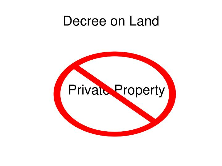 Decree on Land