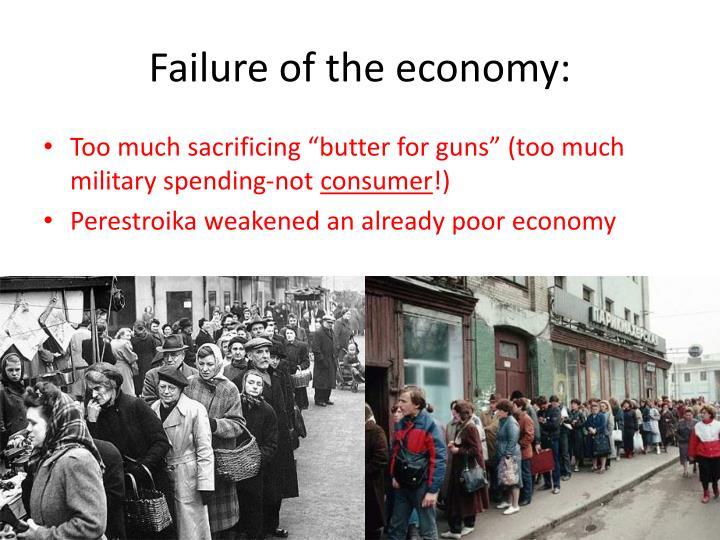 Failure of the economy: