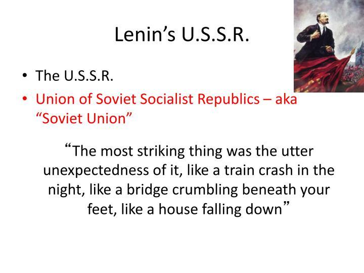 Lenin's U.S.S.R.