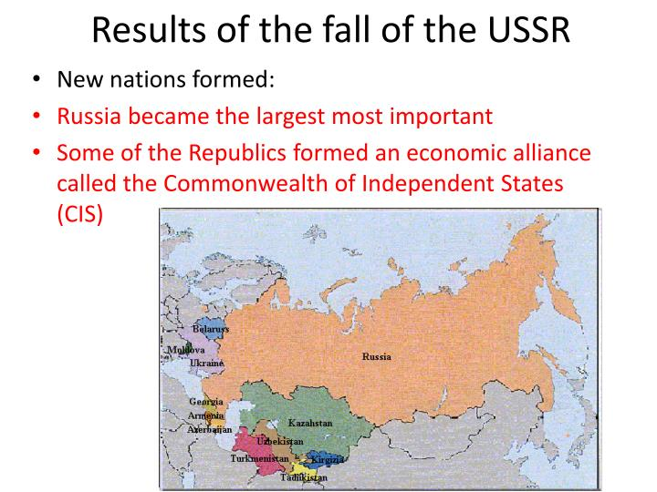 Results of the fall of the USSR