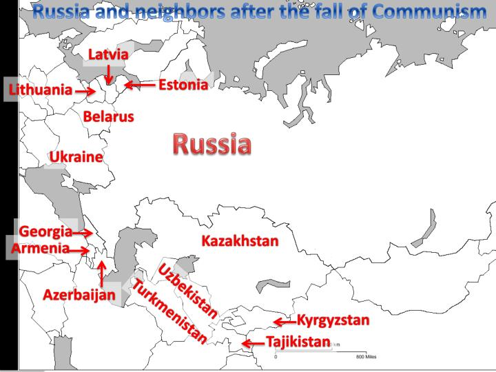 Russia and neighbors after the fall of Communism