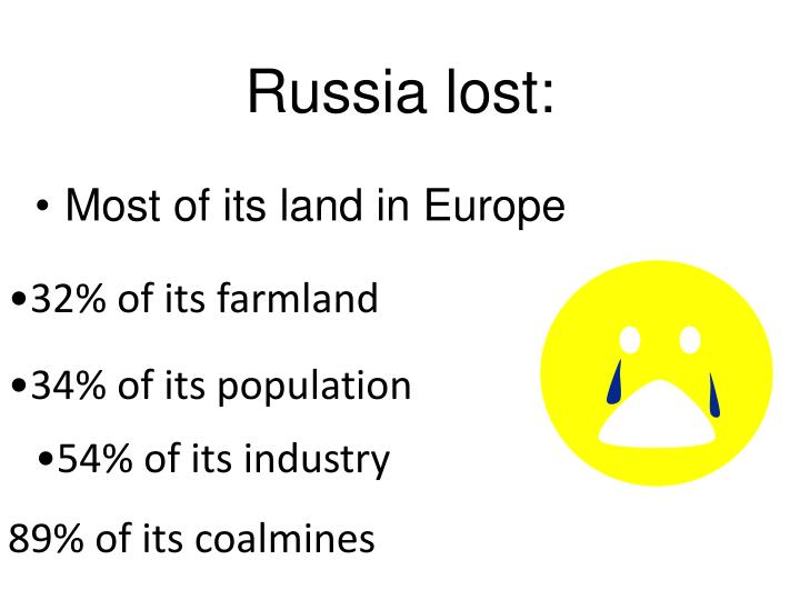 Russia lost:
