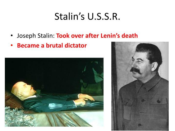Stalin's U.S.S.R.