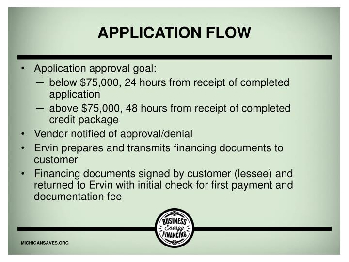 Application flow