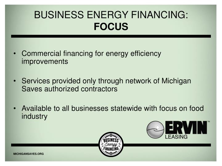 Business Energy Financing: