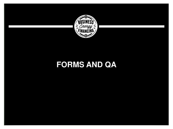 Forms and QA