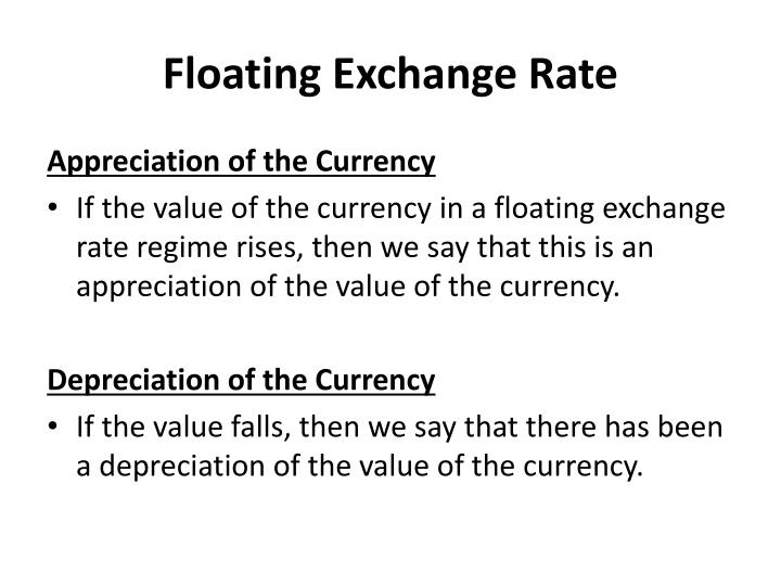 Floating Exchange Rate