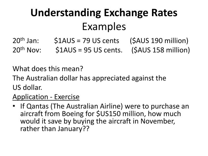 Understanding Exchange Rates