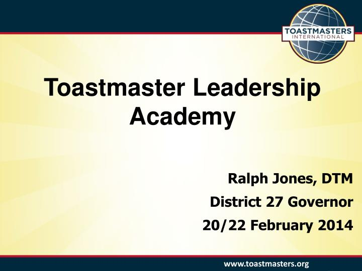 Toastmaster Leadership Academy