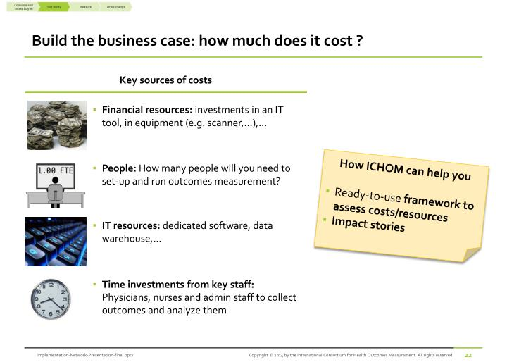 Build the business case: how much does it cost ?