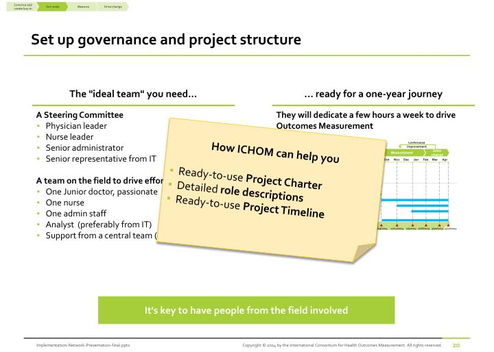 Set up governance and project structure