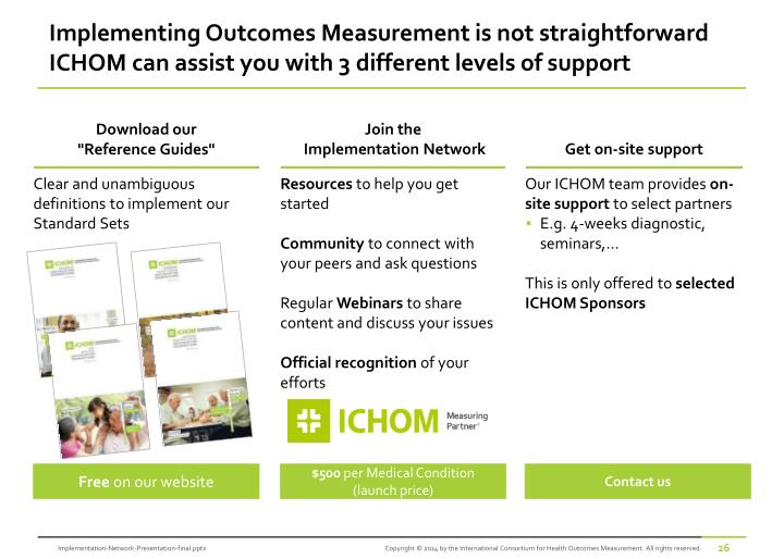 Implementing Outcomes Measurement is not straightforward