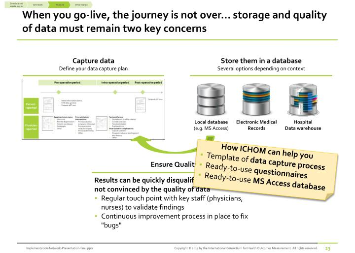 When you go-live, the journey is not over... storage and quality of data must remain two key concerns