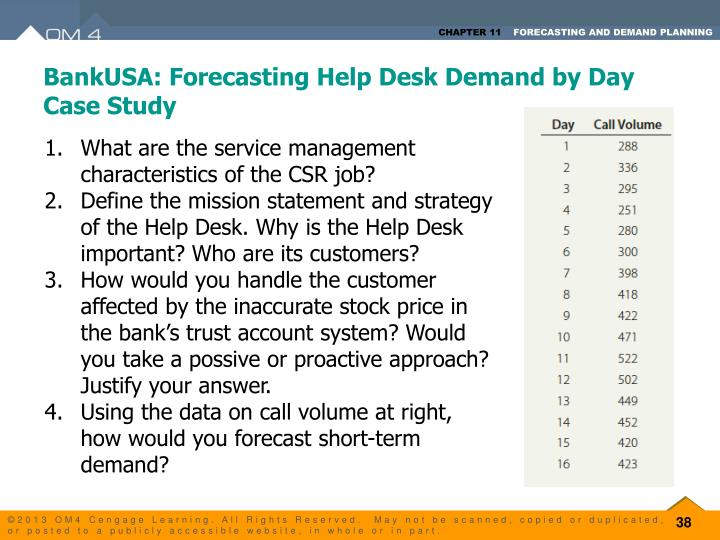 examples of demand forecasting case study