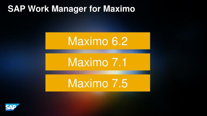 SAP Work Manager for Maximo